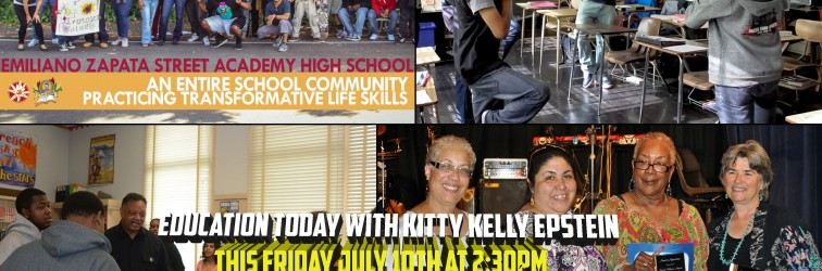 Veteran Street Academy Teacher Betsy speaks on Education Today this Friday at 2:30 PM